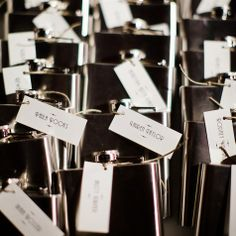 Engraved Flask Favors - 1920's Theme