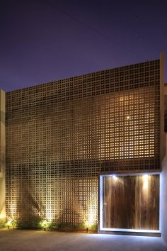 Precast concrete screen - House In Jalisco / Alfonso Farias Iglesias. Photo by Carlos Diaz Corona.