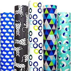 Wrapping Paper 5 Roll 30 Inch X 10Feet Per Roll Design for Birthday Mother Day Valentines Day Wedding Baby Shower Blu... Diy Christmas Wrapping Paper, Gift Wrapping Paper, Creative Gift Wrapping, Creative Gifts, Valentines Day Weddings, Blue Clouds, American Greetings, Xmas Holidays, Paper Gifts