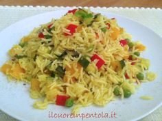Riso basmati con verdure - Ricette di cucina Il Cuore in Pentola