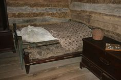 Colonial rope bed with trundle at Allen House in Alamance Cnty, NC
