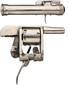 """S.P. Cottrell & Son flashlight revolvers that were made around of the turn of the century, dating between the teens and the twenties.  """"Manufactured circa 1920s."""
