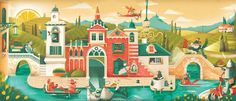 Illustration- Zizzi Spring Menu by Charlie Davis, via Behance