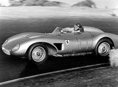 John von Neumann -- Ferrari 625TRC John von Neumann in his beautiful Ferrari 625TRC. He led until his gearbox broke giving the win to Lovely.