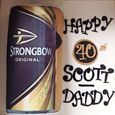 Strongbow Cider Birthday Cake