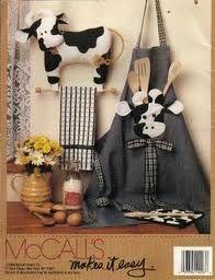 moldes de vacas de tela -