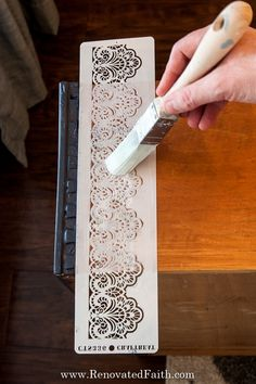 Don't let your next project be ruined because of paint bleeding through your stencil. In this post, I share 5 easy to stencil on wood perfectly every time! Stencil Letters On Wood, Stencil Wall Art, Stencils For Wood Signs, Stencil Wood, Letter Stencils, Stencil Painting, Lace Stencil, Stencil Diy, Chalk Paint Furniture