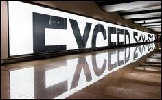 exceed  with reflections #typography