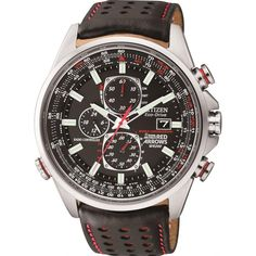 Introducing our latest additions to the Citizen Eco-Drive Red Arrows Collection: The World Chronograph A.T. Available with a stainless steel bracelet or a black leather strap with red trim.