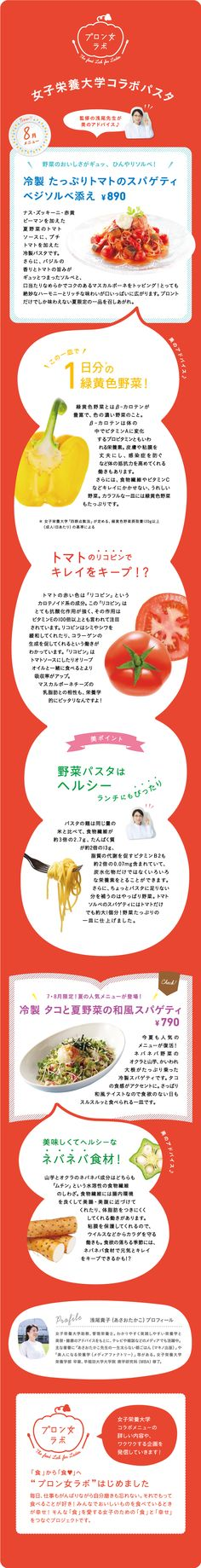 Pronto Pasta of August 2014: Joshieiyodai collaboration pasta green and yellow vegetables of one day can consume in one dish