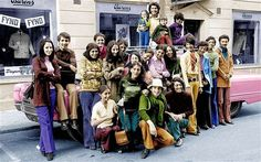 This is a young Osama Bin Laden with his family in Sweden during the 1970s. Bin Laden is second from the right in a green shirt and blue pants.