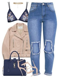 """""""Untitled #1618"""" by power-beauty ❤ liked on Polyvore featuring Topshop, Acne Studios, Yves Saint Laurent and New Look"""