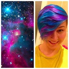 Galaxy hair is about approximating the look of, well, the galaxy.   Galaxy Hair Is Here And It's Going To Blow Your Mind