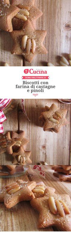 Biscotti con farina di castagne e pinoli della nostra utente Francesca. Unisciti alla nostra Community ed invia le tue ricette!