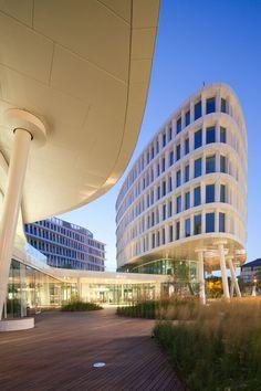 Part of the Business Garden complex in  Warsaw, Poland - photo by Piotr Krajewski;  Arch. Maksimiliano Fuksas