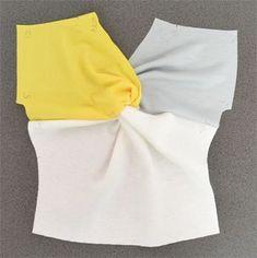 前中心にあるねじれのあるちょっとかわったおしゃれなシャツを自分で作ってみよう!型紙いらず、切って縫うだけ簡単ソーイング