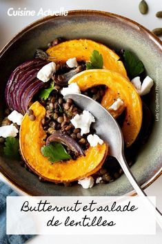 Découvrez vite cette recette. French Recipes, French Food, Vegan Vegetarian, Salad Recipes, Veggies, Warm, Ethnic Recipes, Sweet, Cooking Recipes