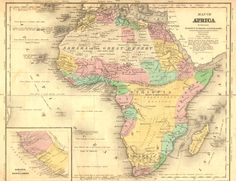Map of Africa in Olney's School Geography. George E. Sherman and J.C. Smith (1843) (University of Florida)