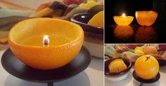Cómo convertir una naranja en una vela
