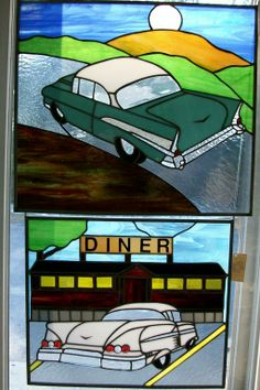 Classic Cars by Sundancer Stained Glass