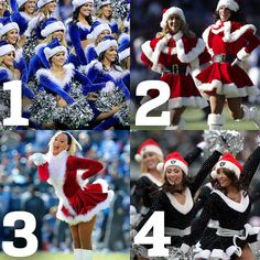 Yes, this is kinda silly. But don't be a Scrooge and show us some holiday spirit! Who wore it best? Repin with your #1-4 pick in the description.
