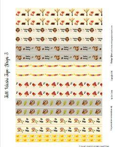 Free Printable Fall Washi Stickers 3 | Vintage Glam Studio