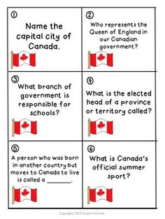 Canadian Government Scoot game for Gr. 5-9. $ #SocialStudies