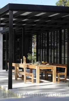 terraza Outside Pool, Interior And Exterior, Interior Design, Decks And Porches, Terrace Garden, My House, Outdoor Living, Living Spaces, Pergola