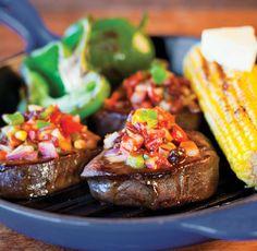 chimichurri salsa steaks