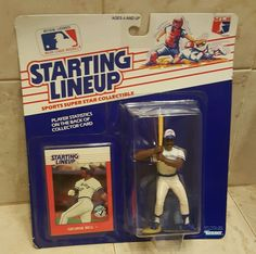 GEORGE BELL 1988 STARTING LINEUP UNOPENED Action Figure Card BLUE JAYS MLB #Kenner