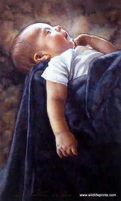 """ARTIST: Steve Hanks (1949-2015 ) ~ """"Life size"""" (watercolour)"""