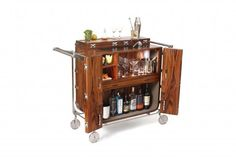 Our 5 Favorite Bar Carts For Home - Food Republic Cocktail Trolley, Drinks Trolley, Mobiles, Mobile Living, Wet Bars, Home Food, Teak Wood, Kitchen Cart, Inspired Homes