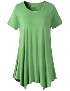 DUHUI Womens Swing Tunic Tops Loose Fit Comfy Flattering T Shirt Casual Tees Blouse