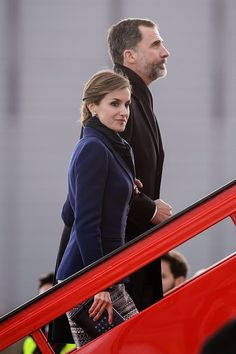 Spanish King Felipe and Queen Letizia depart for an official visit to France at Barajas Airport on 24.03.2015 in Madrid, Spain.