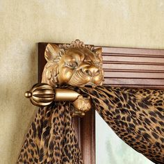 Lion Head Scarf Holder Pair with dimensions 2000 X 2000 Curtain Rods Swag Holders - As with any apparatus, good installation of rods for your curtains can Animal Print Bathroom, Animal Print Decor, Safari Bathroom, Animal Print Furniture, Animal Print Curtains, Animal Prints, Safari Home Decor, Safari Decorations, House Decorations