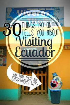 From the creepy clown trash cans (seriously, Ecuador, WTF?) to llamas and knee injuries in the Andes and making turtle friends in the Galapagos Islands, we had a fantastic time during our month backpacking in Ecuador! Here are 30 things no one told us about before we visited Ecuador…. http://www.southamericaperutours.com/southamerica/12-days-wonders-of-machu-picchu-and-galapagos.html