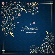 Fundo Flourish do vintage