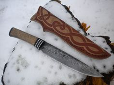 Hand-made Knives Damascus knife by ~hellize