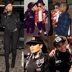 Beyoncé as Janet Jackson & Blue Ivy as Michael Jackson at the Pre-Halloween Party in NYC (Oct 30th, 2014)