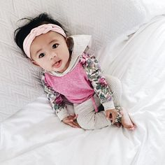 Adorable baby headband - so soft and doesn't leave marks.  Rose newborn knotted braided headband www.hollyblossoms.etsy.com