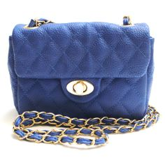 The Look for Less!  Lily Small Quilted Blue Bag, Mimi Boutique, $49.75