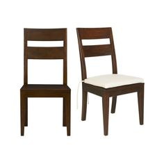 Love this table, chairs and bench set from Crate and Barrel  Basque Honey Side Chair and Cushion  | Crate and Barrel