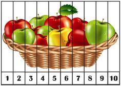 Képtalálat a következ? Preschool Learning Activities, Preschool Themes, Maths Puzzles, Puzzles For Kids, Vegetable Crafts, Color Flashcards, Fruit Picture, Apple Theme, Tasty