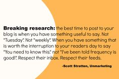 Quote by Scott Stratten of Unmarketing. #GBSMM