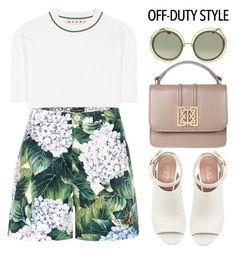 """Pedraza off-duty style"" by mada-malureanu ❤ liked on Polyvore featuring Marni, Dolce&Gabbana, Chloé, offduty, summerbooties, PedrazaLondon and Pedraza"