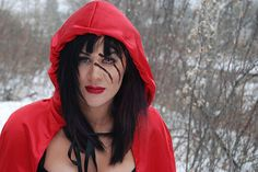 Little Red Riding Hood costume with claw marks from the claw marks