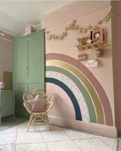 Baby Room Decor, Bedroom Decor, Rainbow Room, Little Girl Rooms, Girls Bedroom, Room Inspiration, Kids Room, Home Decor, Playroom