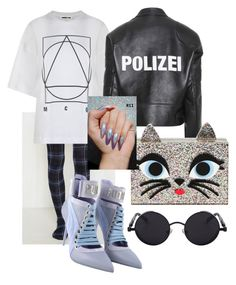 """""""Amiee😽"""" by vcvintage on Polyvore featuring Puma, McQ by Alexander McQueen, Vetements and Karl Lagerfeld"""