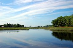 The Kennebunk River, leading to the marshland. Photograph by Geraldine Aikman.