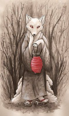 A Kitsune (Japanese Fox Spirit)